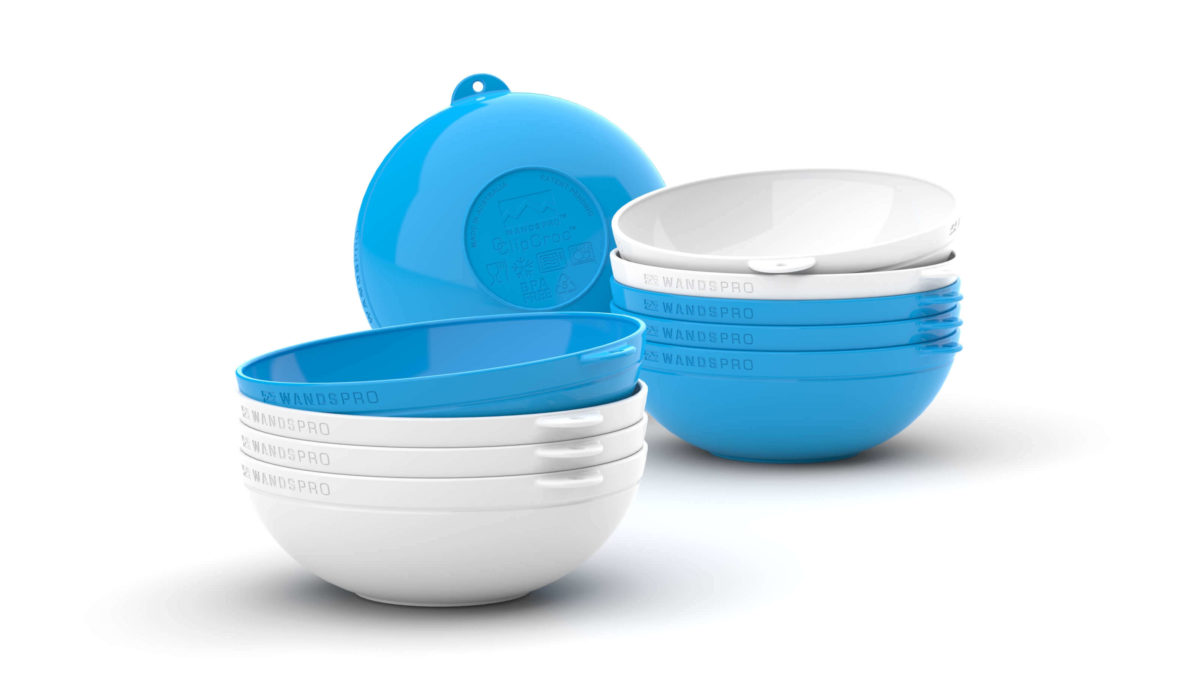 Clipcroc™ Bowl Set in Sky Blue and Ice white by WandsPro