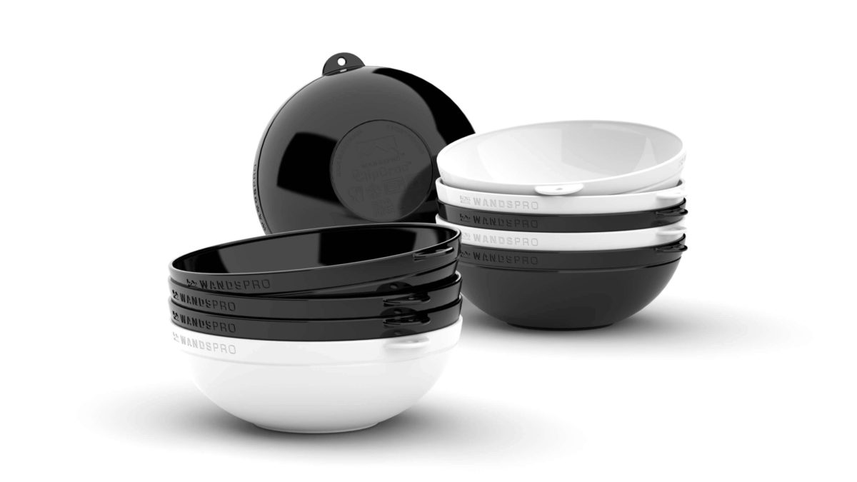 Clipcroc™ Bowl Set in Midnight black and Ice white by WandsPro