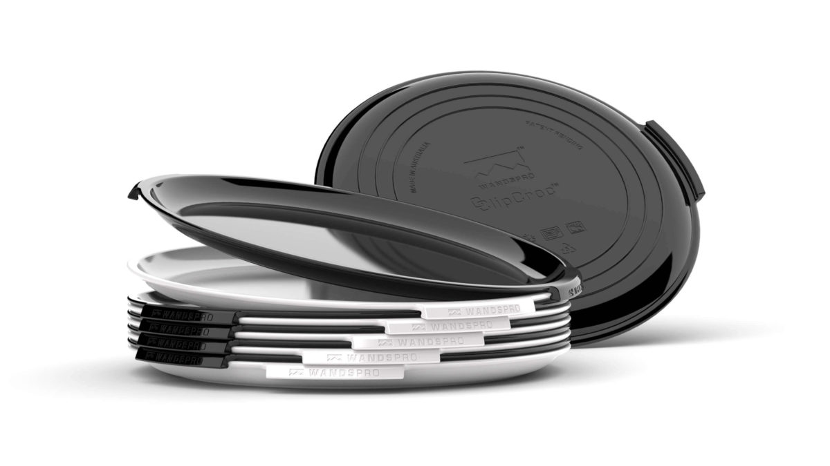 Clipcroc™ Plate Set in Midnight black and Ice white by WandsPro