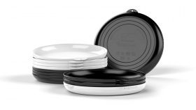 Clipcroc™ Dish Set in Ice white and Midnight Black by WandsPro