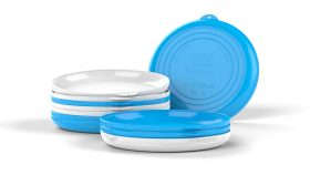 Clipcroc™ Dish Set in Ice White and Sky Blue by WandsPro
