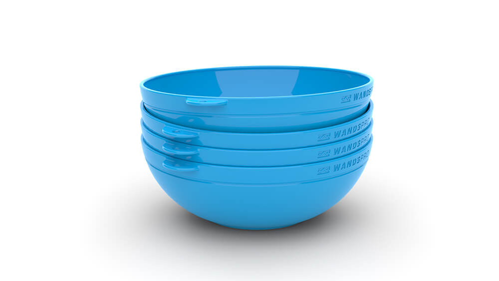 Clipcroc™ Bowl Set in Sky Blue by WandsPro