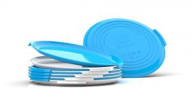Clipcroc Plate Set in Ice white and Sky Blue by WandsPro