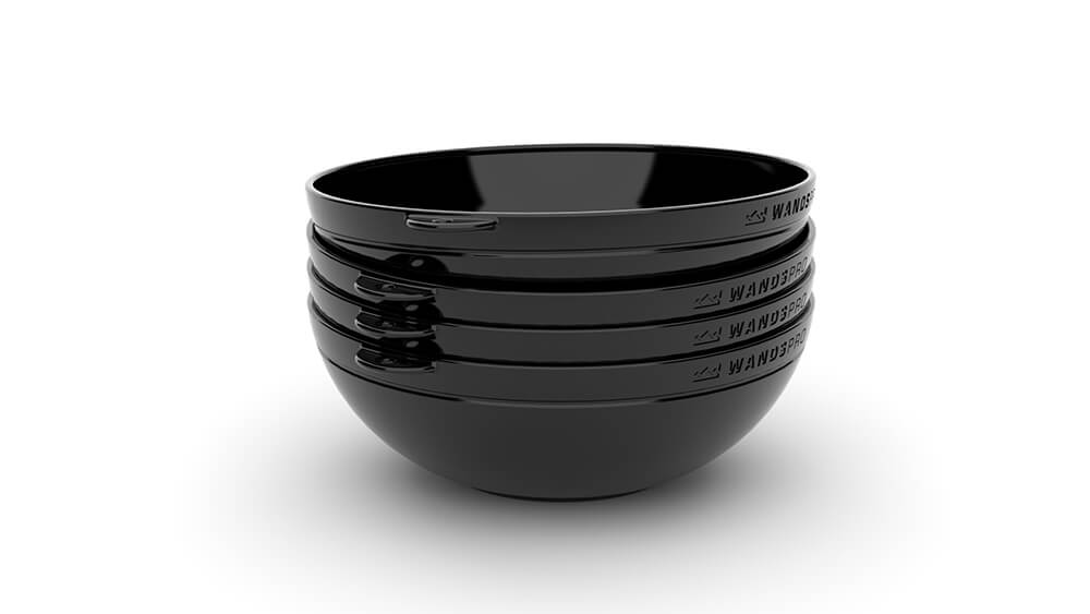 Clipcroc™ Bowl Set in Midnight Black by WandsPro