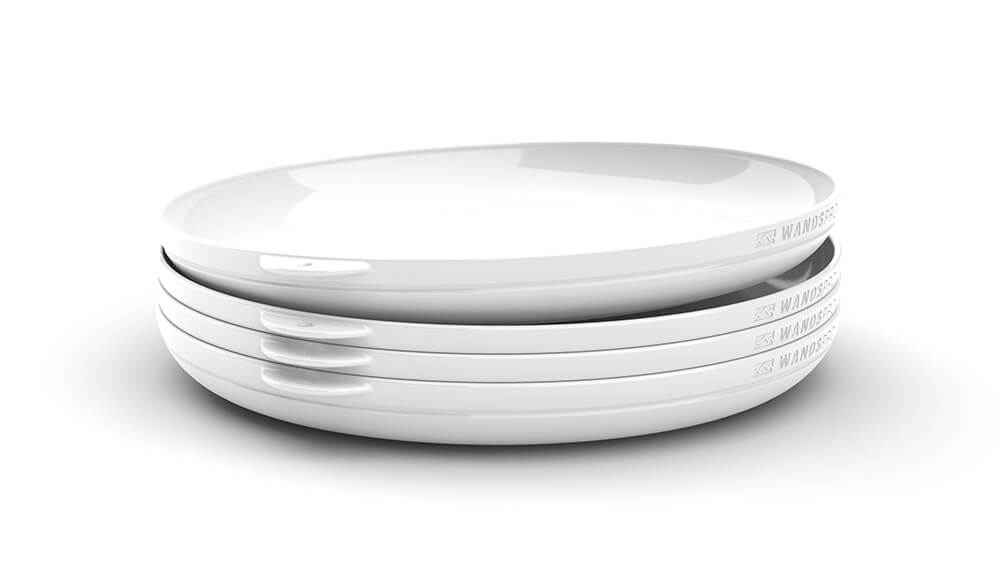 Clipcroc™ Dish Set in Ice White by WandsPro