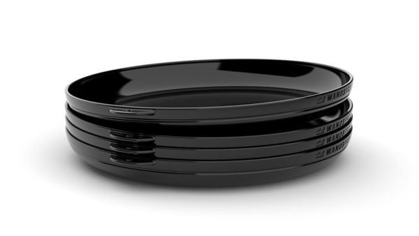 Clipcroc™ Dish Set in Midnight Black by WandsPro