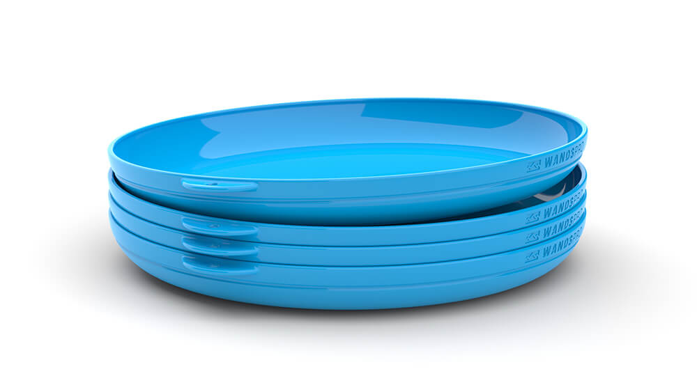 Clipcroc™ Dish Set in Sky Blue by WandsPro