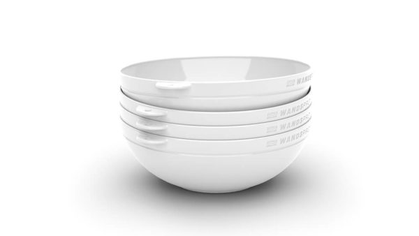 Clipcroc™ Bowl Set in Ice White by WandsPro