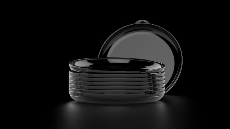 ClipCroc Dish Black