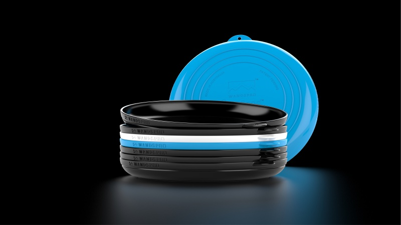 ClipCroc Dish Blue White Black